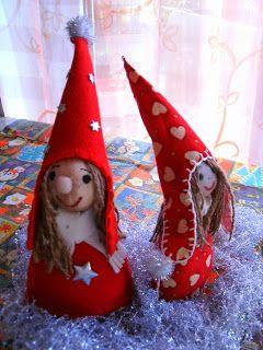 kochloeffel-und-nadelkissen: Weihnachtswichtel