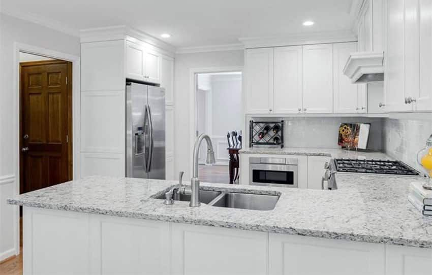 White Granite Countertops Colors Styles In 2020 White Granite Countertops White Granite Kitchen Granite Countertops