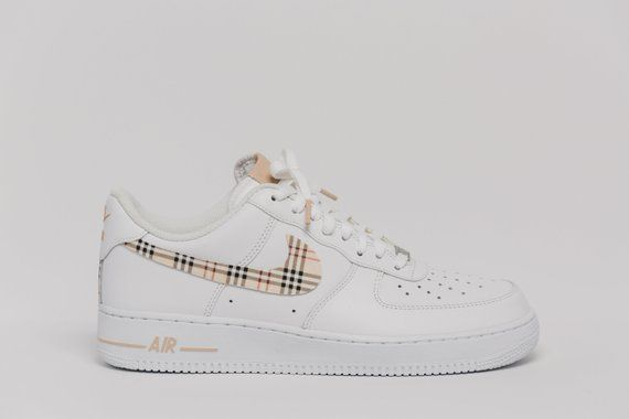 23f4ae7adc3 Nike Air Force 1 Custom Made Burberry Premium Designer Edition | Etsy