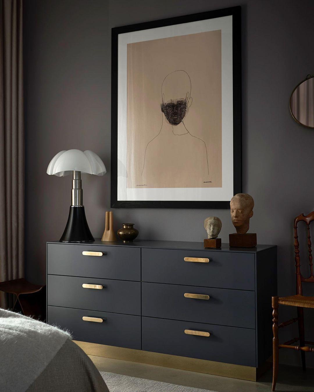 Elegant Meuble De Chambre Noir Ikea