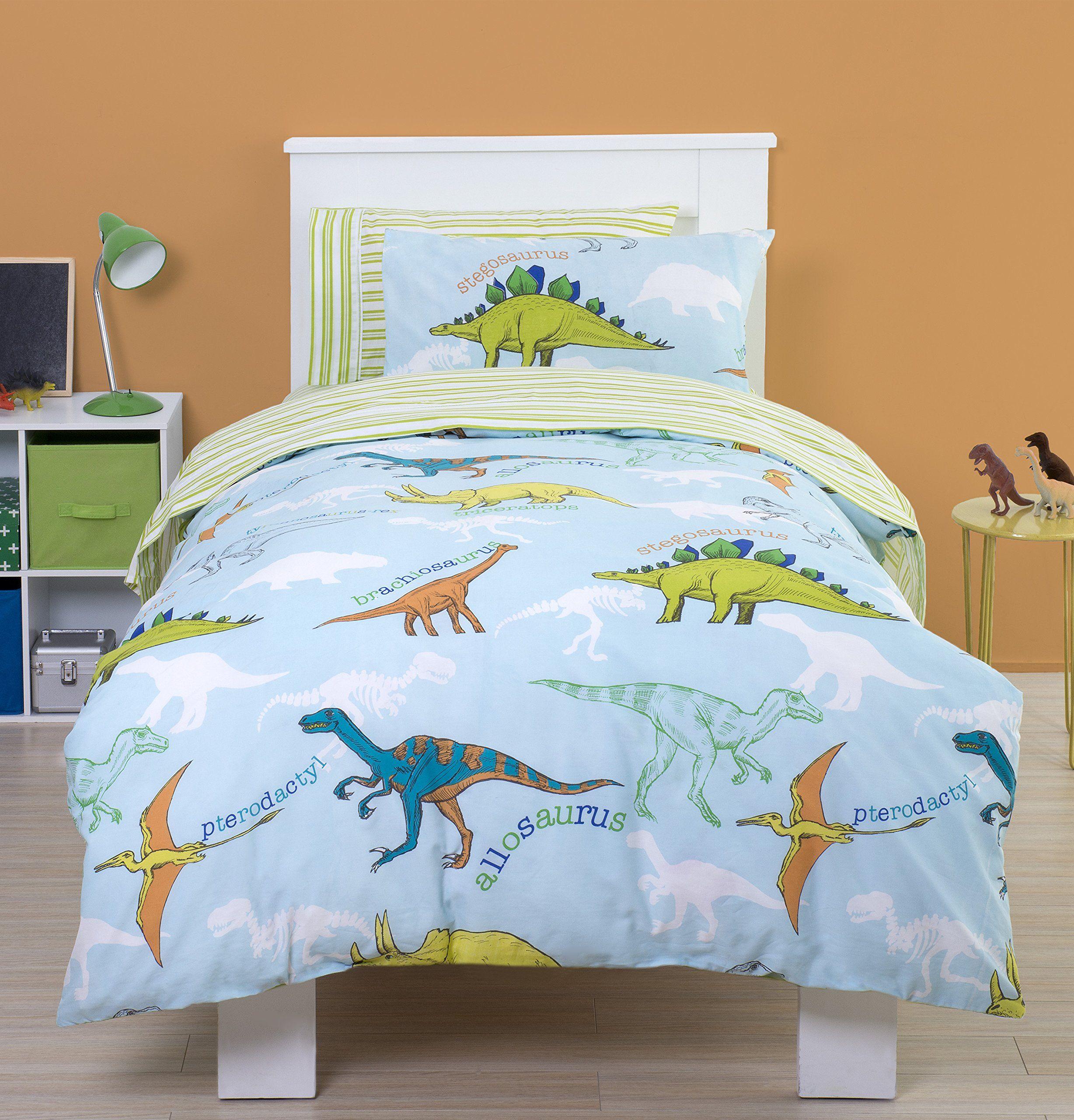 Dinosaur Childrens Single Duvet Set Also Available For Toddler Cotbed Roar