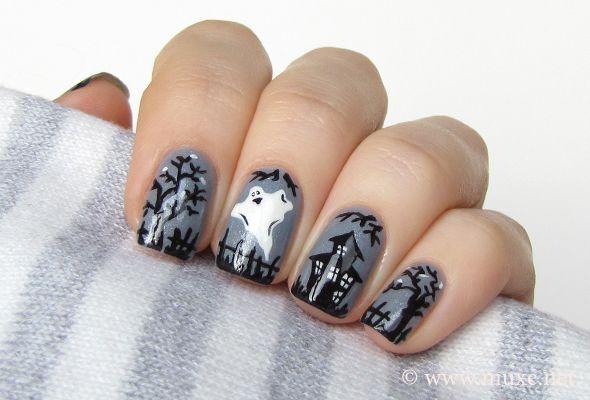 Halloween ghost nail design - Google Search - Halloween Ghost Nail Design - Google Search Halloween Nail Art