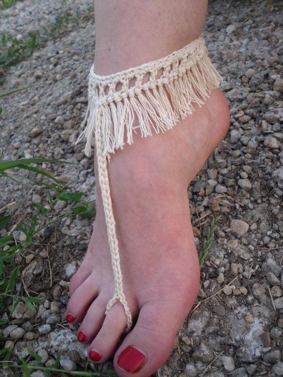 Free Shipping Crochet Fringe Barefoot Foot Jewelry by Serbiangirl ...