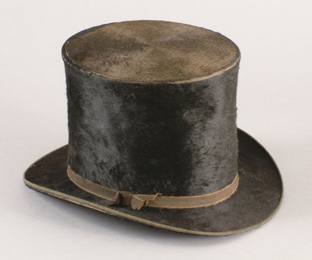 2defef4ce435b7 Fur Top Hat Brown and black beaver fur hat designed and manufactured by  D.S. Freeland & Son, circa 1840s-1850s (Museum of the American West,  92.106.1)