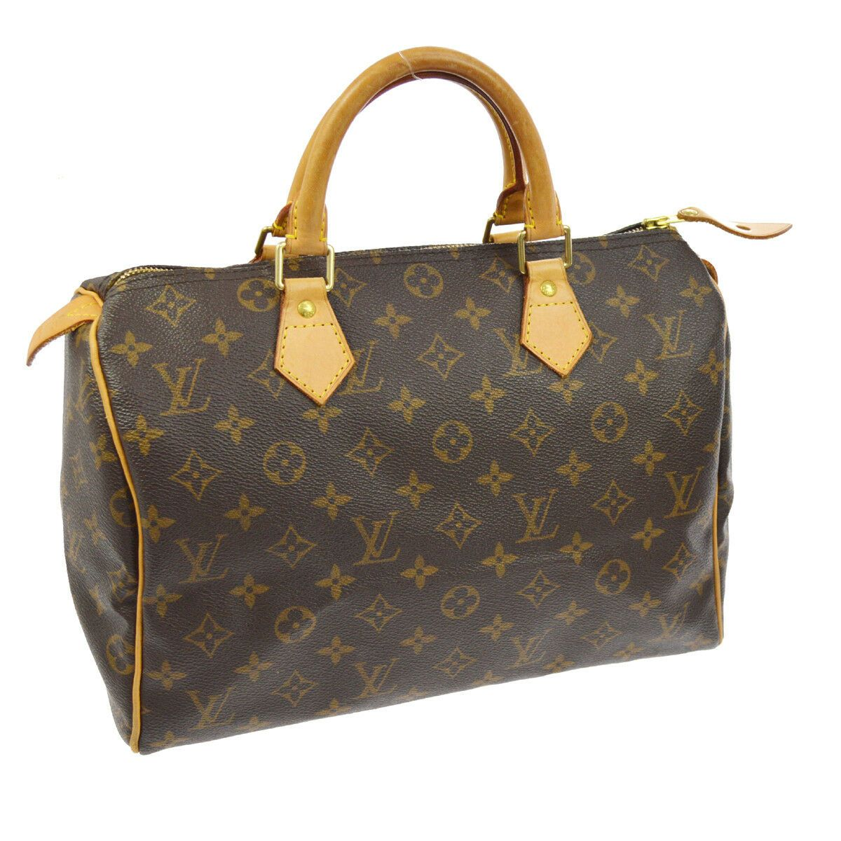 AUTHENTIC LOUIS VUITTON SPEEDY 30 HAND BAG MONOGRAM CANVAS PURSE M41526 A41308g - Ideas of