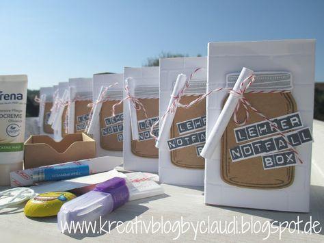 Kreativ Blog by Claudi: Notfall-Set für Lehrer #nikolausgeschenkkollegen
