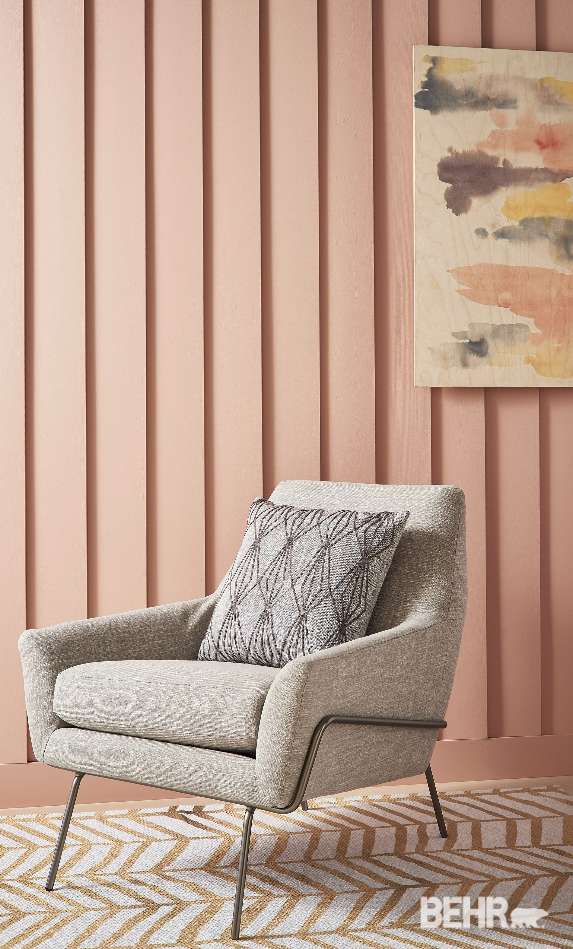 Paint Color Trends this soft paint color in everything's rosy, is a great way to make