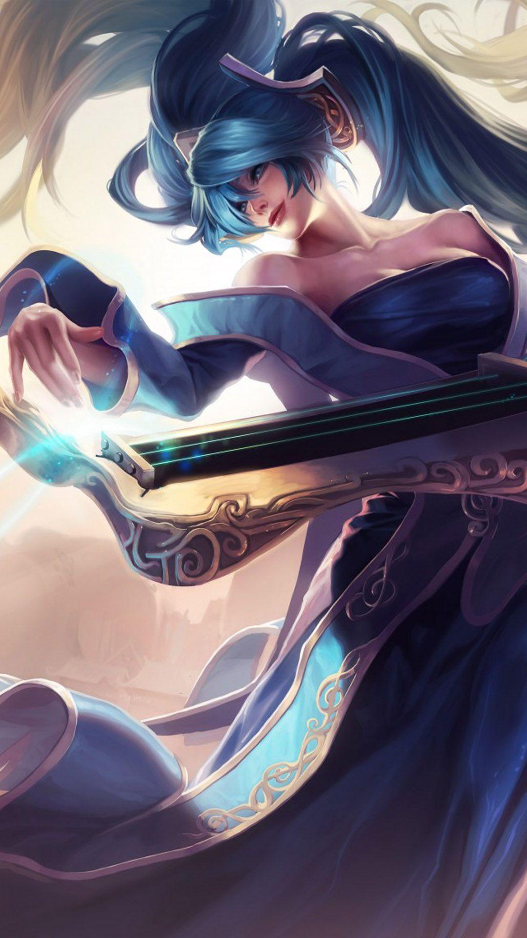 Sona League Of Legends 4k Ultra Hd Mobile Wallpaper In 2021 League Of Legends Lol Champions League