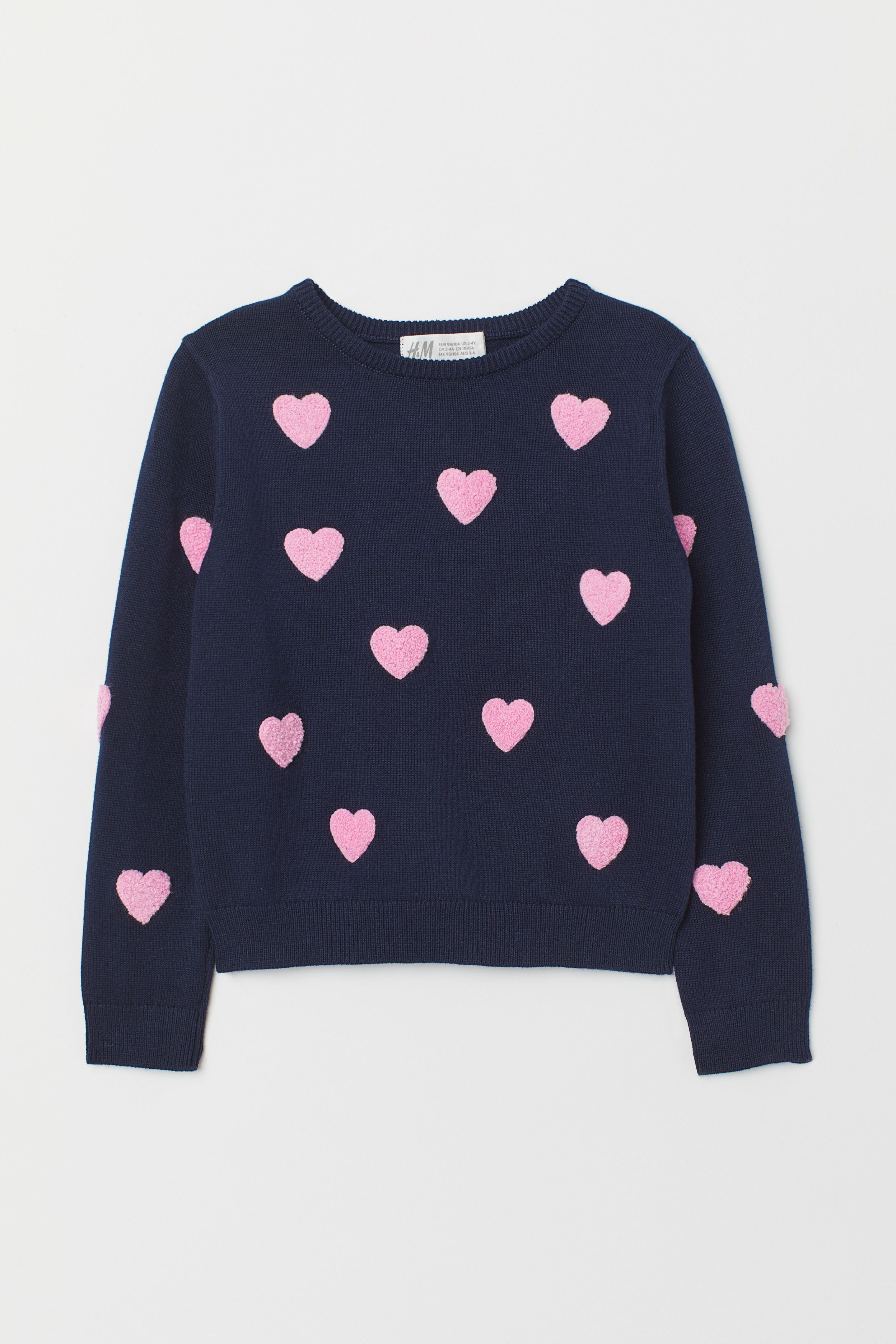 Internet Kid Girls Love Heart Long Sleeve Shirt Sweater+Pants Skirt Suit 5 Y, Pink for 3-7 Years Old