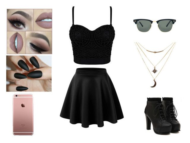 """""""Sem título #120"""" by luisa-raquel on Polyvore featuring moda, LE3NO, Charlotte Russe e Ray-Ban"""