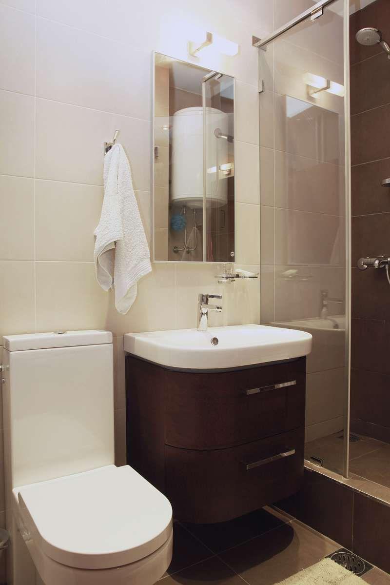 Ba o peque o moderno repisa para ba o peque o fotos - Banos modernos pequenos con ducha ...