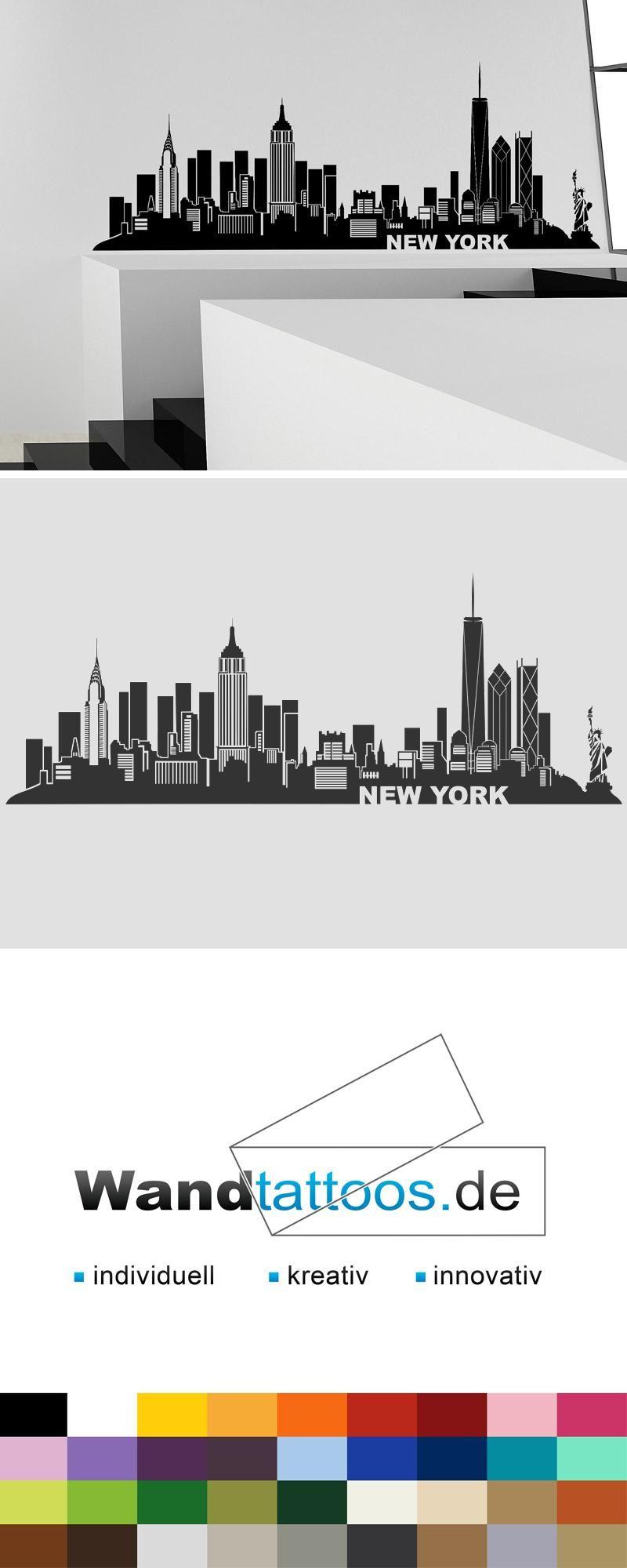 Verführerisch Wandtattoo Köln Referenz Von New York Skyline 1 Als Idee Zur