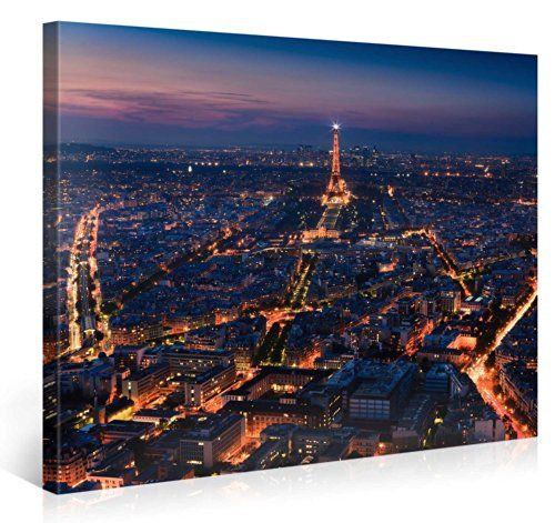 Large Canvas Print Wall Art – PARIS SKYLINE – 100x75cm Canvas ...