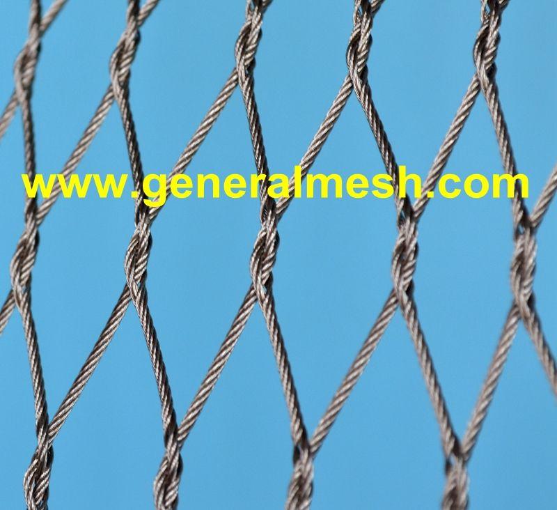 Siatki Nierdzewne X Tend Specyfikacja Rozne Srednice Kabli 1 2 Do 4 0 Mm Rozne Rozmiary Oczek 25 X 43 Mm Do 200 X 346 M Rope Wire Wire Mesh Security Fence