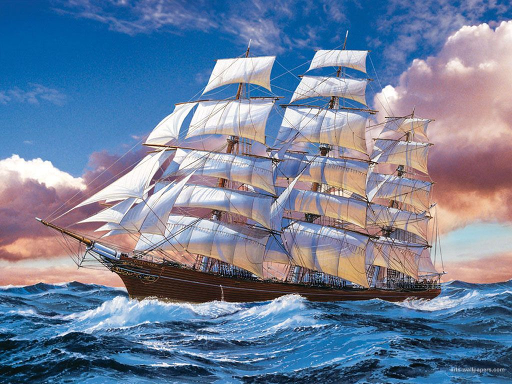 famous sailing ship paintings art pictures and art