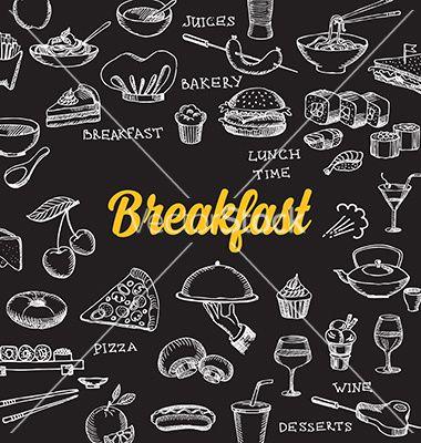 Restaurant Cafe Menu Template Design Food Flyer Vector  By