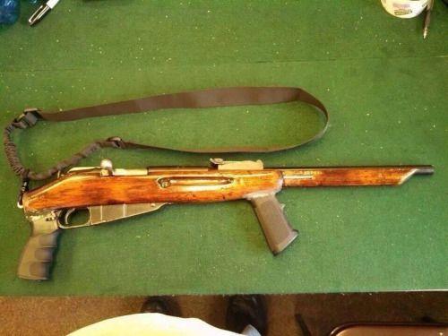 Mosin-Nagant  Pistol grip, forward vertical grip, no stock