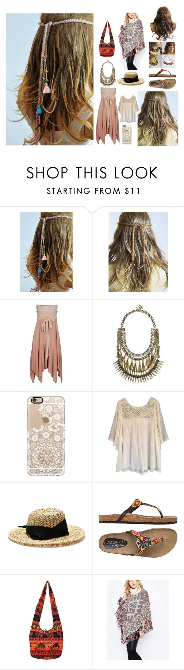 267 by selenay6 on Polyvore featuring moda, Haute Hippie, Spiritual Hippie, Coconuts, BaubleBar, Sensi Studio and Casetify