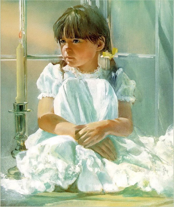 Paintings of little girls in white dresses always get to me, and this one by Carolyn Blish is perfection.