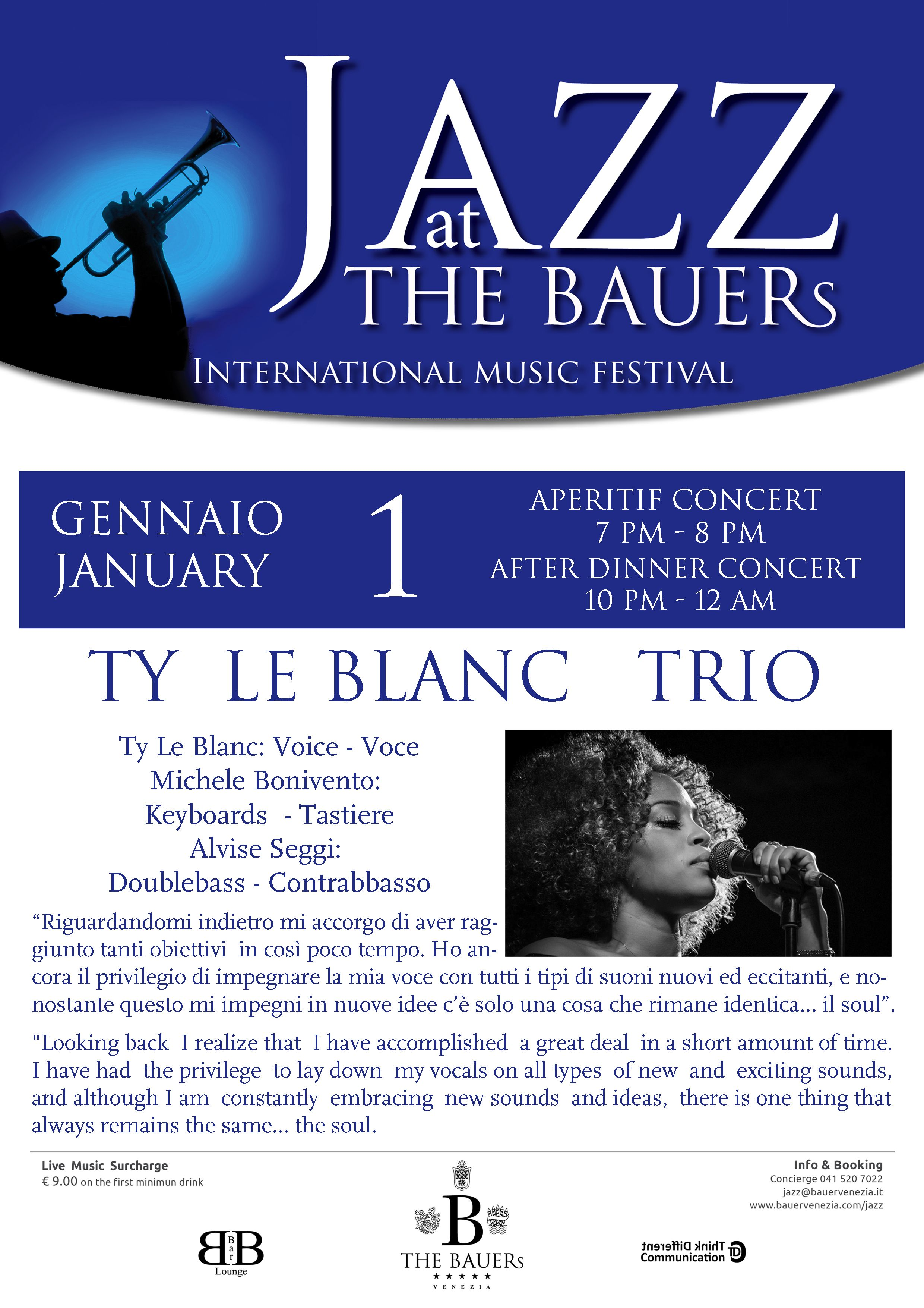 Ty Le Blanc  Jazzy New Year - January 1st concerts