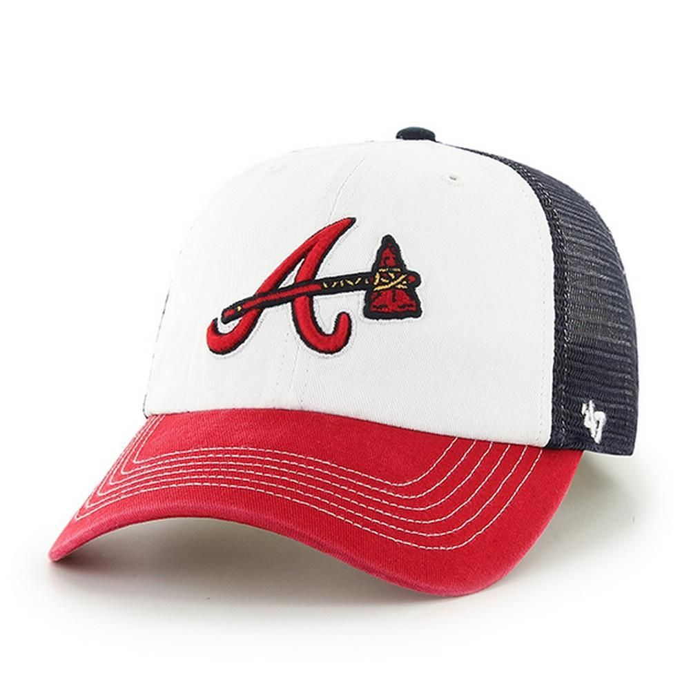 Men S 47 Brand Mckinley Atlanta Braves Fitted Hat Fitted Hats Atlanta Braves 47 Brand