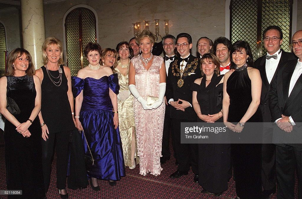 Princess Michael Of Kent At A Viennese Ball At The Savoy To Benefit 'sane' And 'fight For Life. Wearing Dress Designed By Charles And Patricia Lester