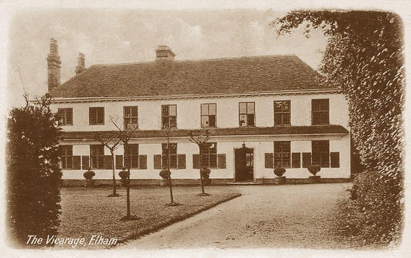 Kent, Elham Village, old photo of the Vicarage