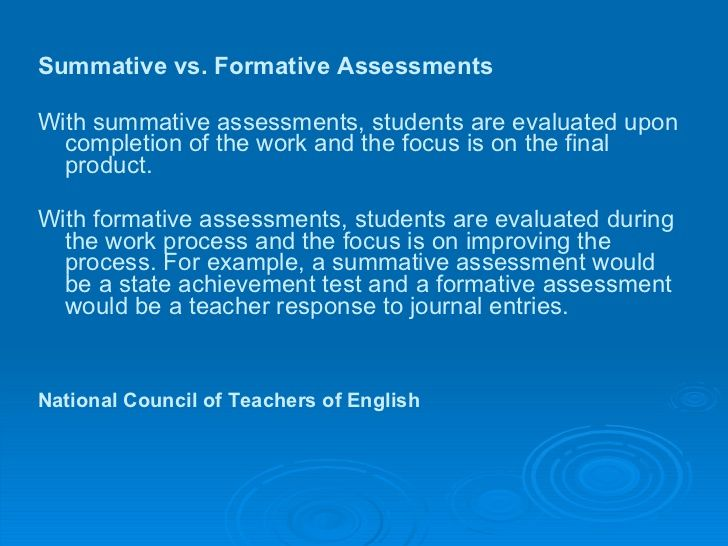 Formative Assessment Vs Summative Assessment  School Stuff