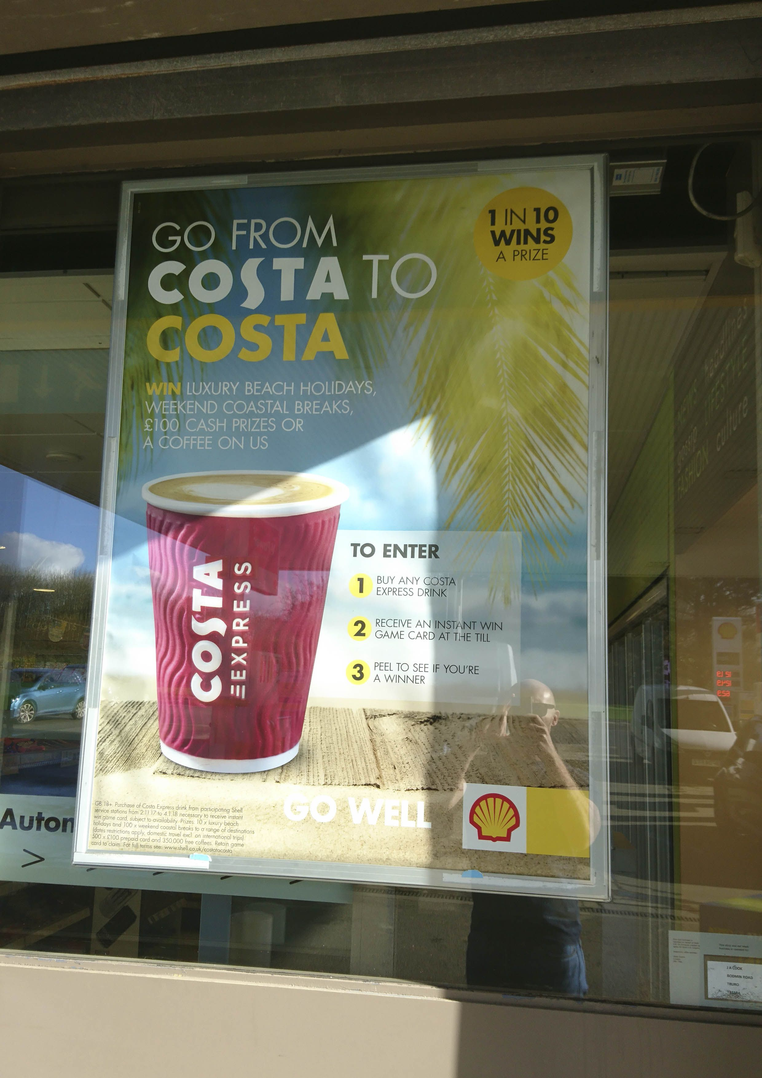 Costa holiday promotion at shell service station holiday