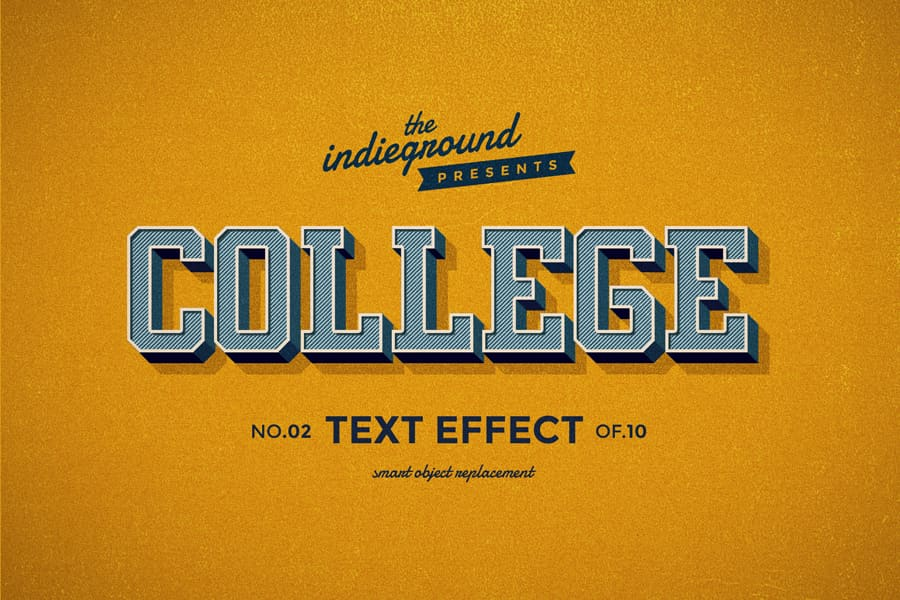 Retro Vintage Text Effect N 02 Indieground Design Retro Text Vintage Text Text Effects
