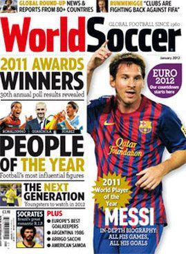 World Soccer Magazine Messi World Soccer Magazine Football Books Soccer