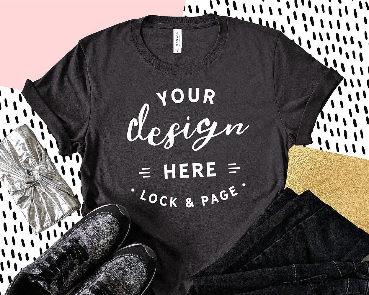 Download Bella Canvas 3001 Graphic Mockups Shirt Mockup Mockup Free Psd Free Packaging Mockup