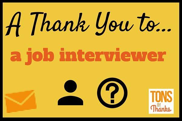 Post Interview Thank You Note Examples And Tips Also Includes A