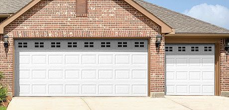 This Steel Garage Door Features Colonial Panel Design With Wayne Dalton S Stockton I Window