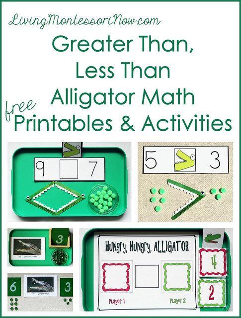Montessori Monday - Greater Than, Less Than Alligator Math ...