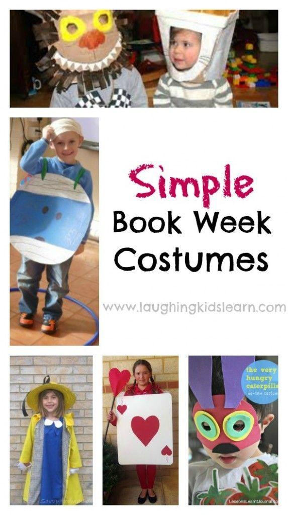 Simple book week costume ideas - Laughing Kids Learn  sc 1 st  Pinterest & Simple book week costume ideas | Pinterest | Book week costume Book ...
