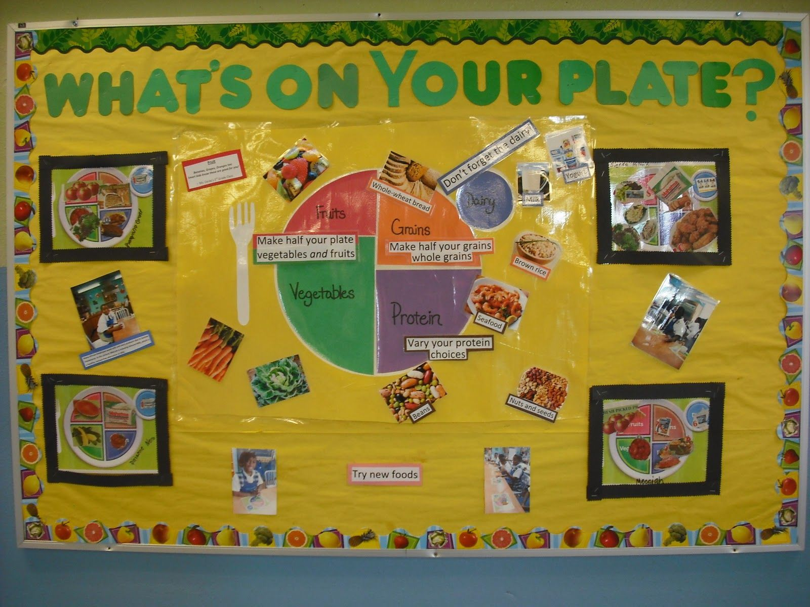 Art craft ideas and bulletin boards for elementary schools vegetable - Another Nutrition Bulletin Board Using Myplate