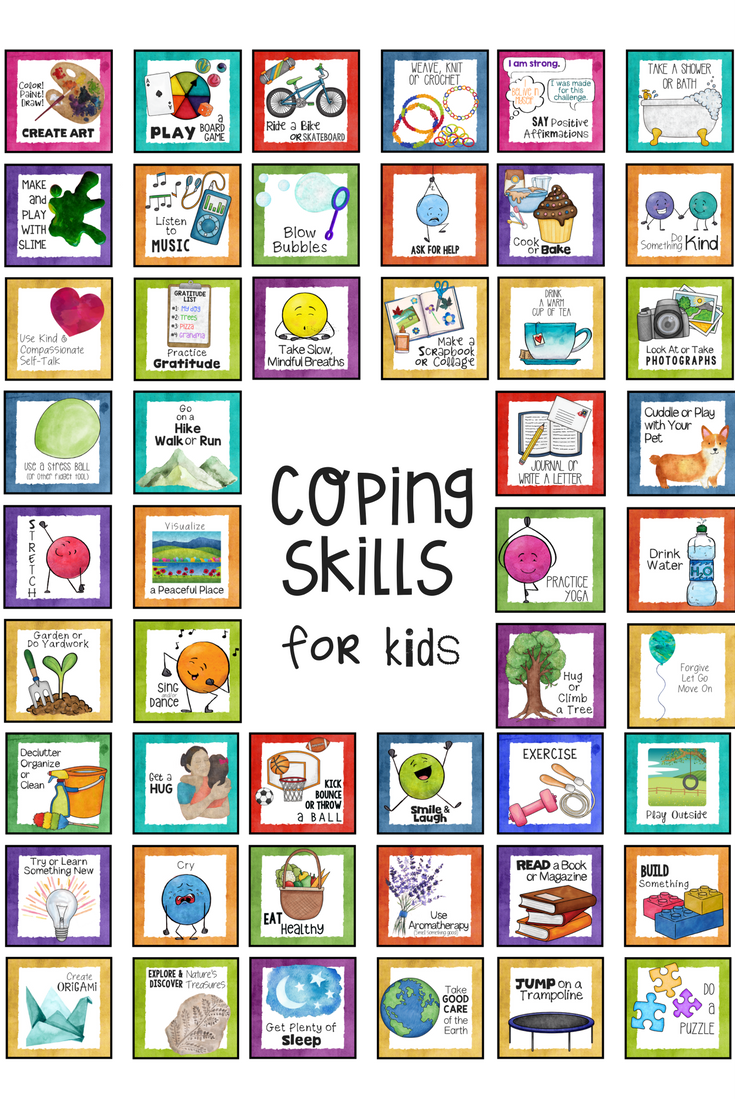 Top Coping Skills For Kids Posters Task Cards Worksheets And Activities Perfect For School Counsel Kids Coping Skills School Counseling Lessons Coping Skills