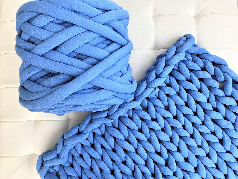 Cotton yarn, Cotton tube yarn, Chunky knit yarn, Hand