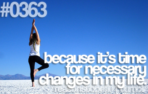 Change for the better :)