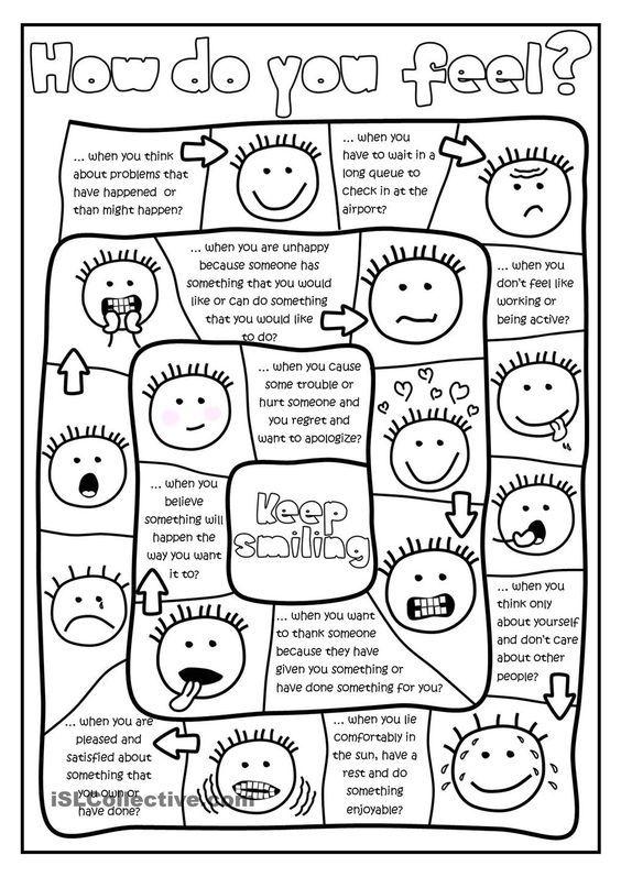 How do you feel? - board game worksheet - Free ESL ...