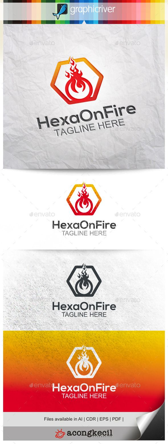 Hexa On Fire (With images) Hand lettering logo, Logo