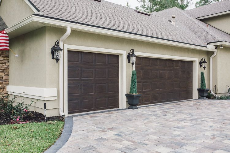 Faux Woodgrain On Garage Doors By Artistic Finishes Of North Florida