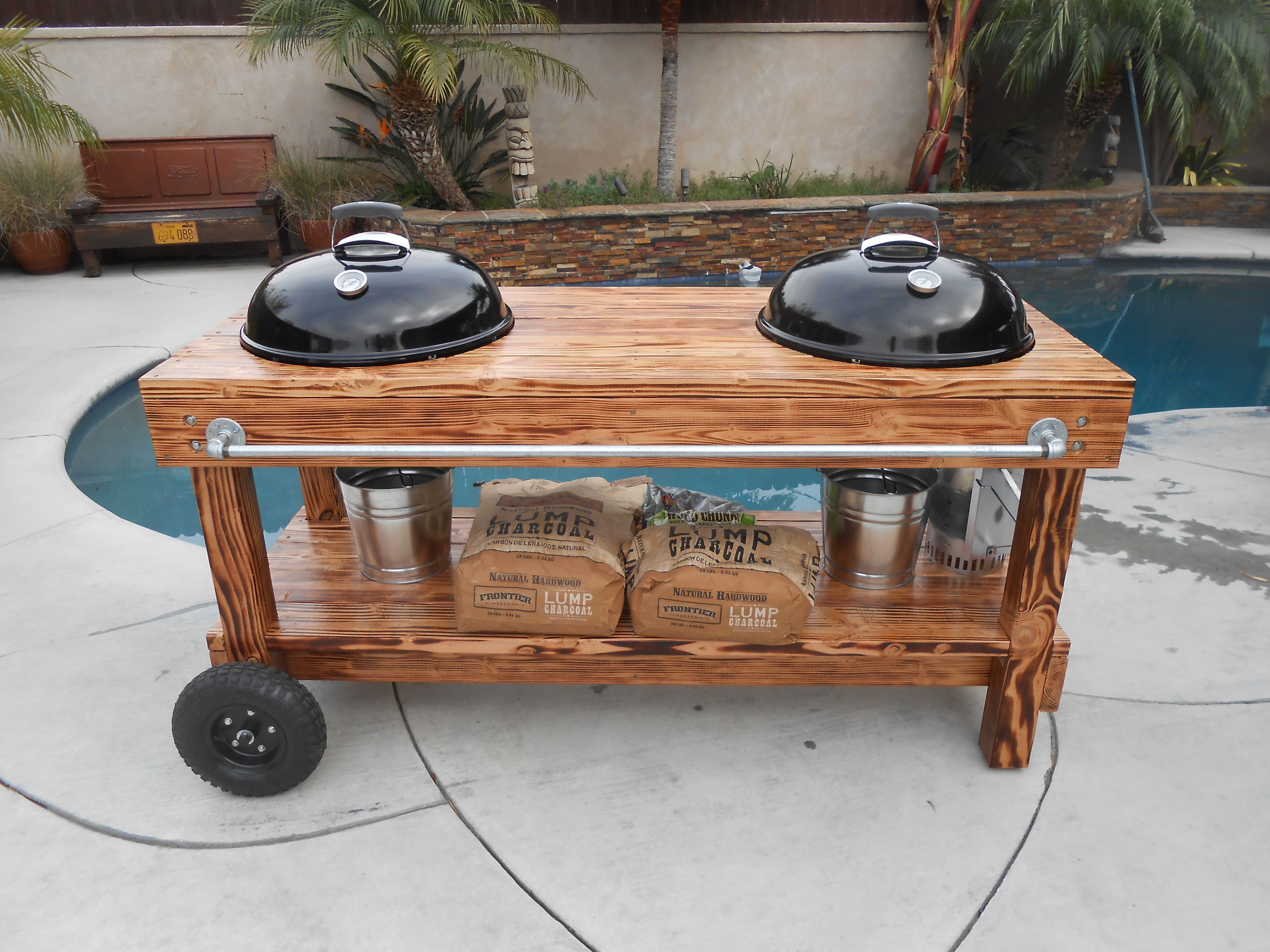 Meuble Barbecue Custom Weber Charcoal Bbq Barbecue Cuisine Exterieur