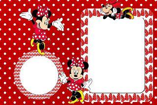 Minnie Mouse De Rojo Invitaciones Para Imprimir Gratis