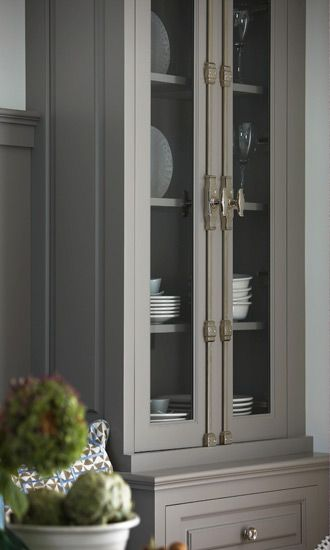 Cremone Espaglonette French Door Bolts Are Lovely On This Gray Kitchen Cabinet With Gl Fronts