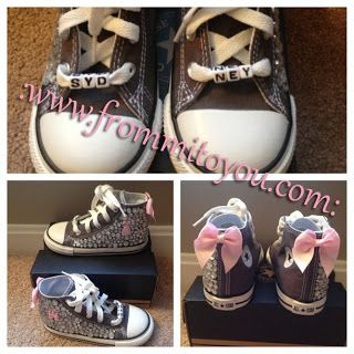 0272041a4e35 Embellished Junk Chuck sby From Mi To You  shoes  converse  chucktaylor   bling  kids  girl  bow  pink  gray  grey  princess  frommitoyou