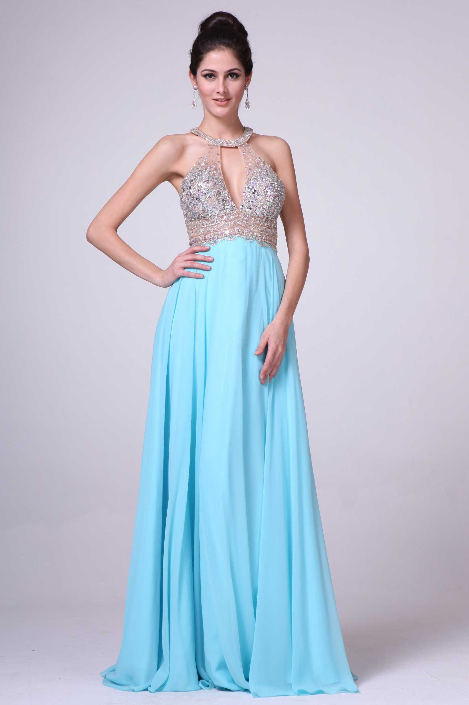 Floor Length Prom Gown CD8736 Floor Length A-Line Prom or Evening ...