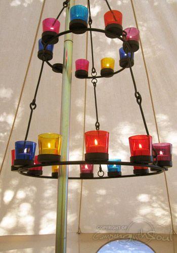 Smooth Double Multi Coloured Tea Light Chandelier Chandelier Lighting Tea Lights Chandelier
