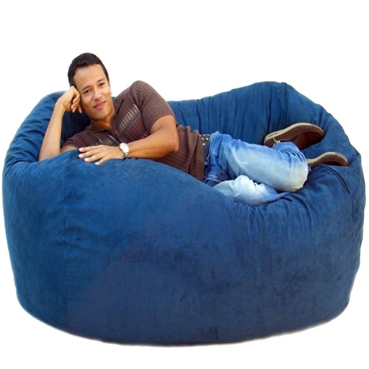 Bean bag chairs for adults - Blue Big Bean Bag Chairs